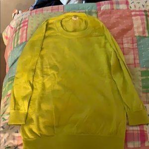 Neon yellow Jcrew sweater